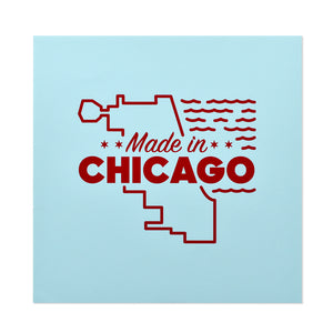 "Made in Chicago Logo 8"" x 8"" Print"
