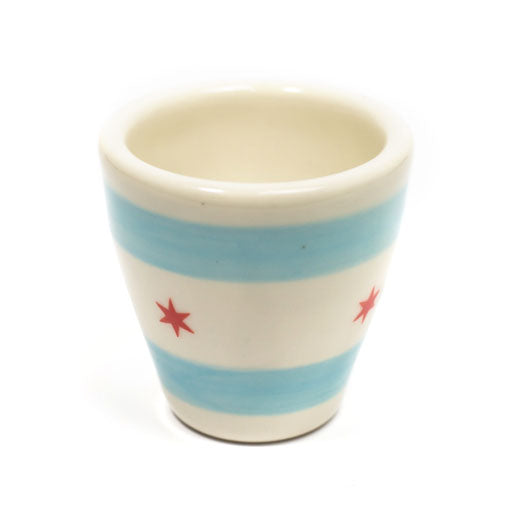 Chicago Flag 2 oz Espresso Cup