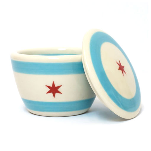 Chicago Flag Lidded Bowl