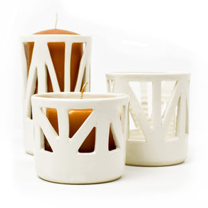 Architectural Ivory Candle Pillar