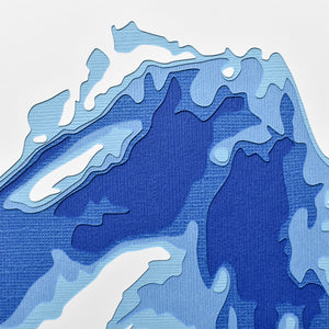 "Lake Superior 8"" x 10"" Papercut"