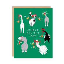 Jingle All the Way Cat Tails Holiday Card