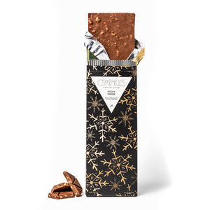Sticky Toffee Milk Chocolate Holiday Bar