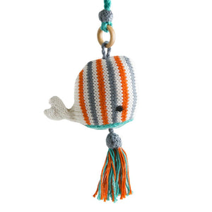 Fair Trade Cotton Whale Baby Toy or Ornament