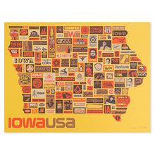 "Iowa All the Way 18"" x 24"" Screen Print"