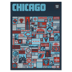 "Super Chicago 18"" x 24"" Screen Print"