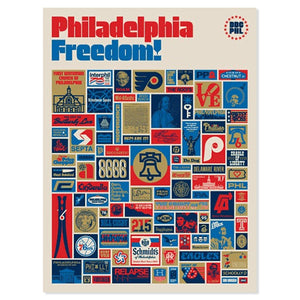 "Philadelphia Freedom 18"" x 24"" Screen Print"