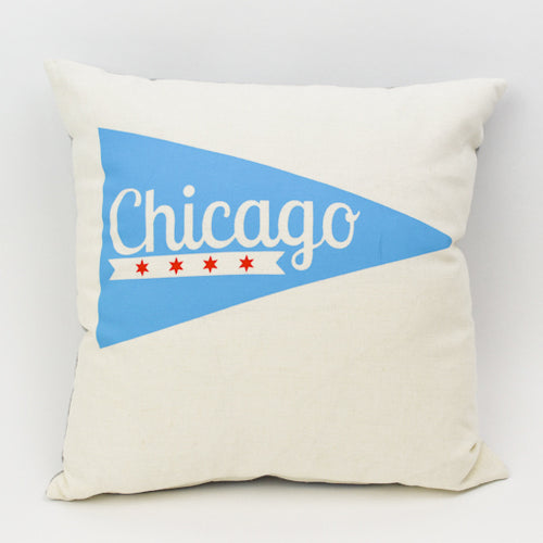 Chicago Pennant Pillow