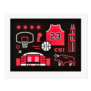 "Chicago Basketball 11"" x 14"" Print"