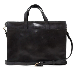 Fair Trade Leather Work Tote Laptop Bag