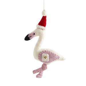 Fair Trade Felt Flamingo Ornament