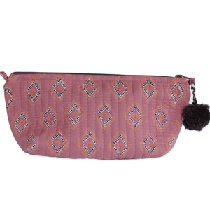 Block Printed Makeup Pouch