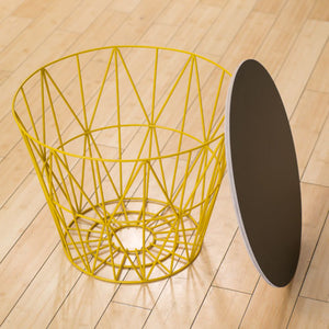 Black Oak Wire Basket Table Top