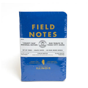 Field Notes Illinois County Fair Edition Notebooks (Set of 3)