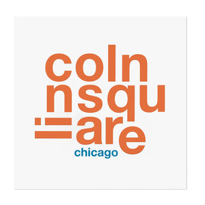 "Chicago Neighborhood Names ""Fun with Type"" 8"" x 8"" Print"