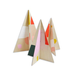 Painted Birch Holiday Trees (Set of 3)