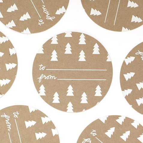 Happy Holidays Gift Stickers (Set of 10)
