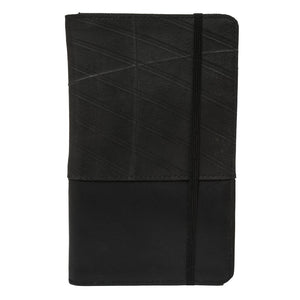 Recycled Tire Rubber Black Passport Wallet or Notebook Folder