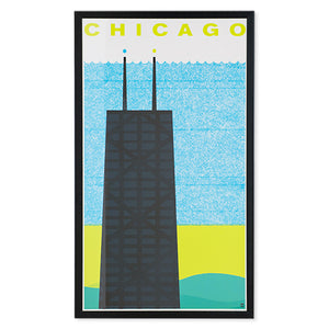 "Chicago Hancock 14"" x 24"" Screen Print"