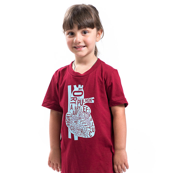 Typographic Heart Kids Tshirt