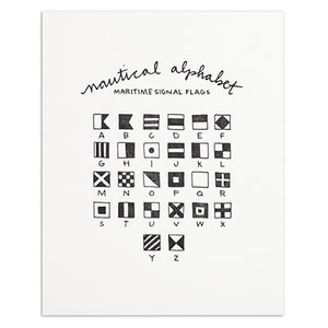 "Nautical Alphabet 8"" x 10"" Print"