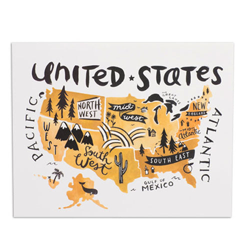 USA Illustrated Map 8