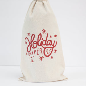 Holiday Helper Wine or Beer Bottle Gift Bag