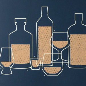 "Whiskey Montage 19"" x 25"" Screen Print"