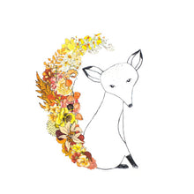 "Floral Fox 8"" x 10"" Illustrated Print"