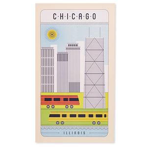 "Chicago Line Drawing 10"" x 17.5"" Poster"