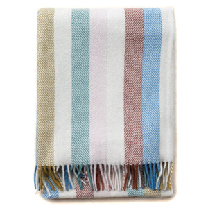 Recycled Wool Striped Throw Blanket