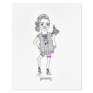 "Amy Sedaris 8"" x 10"" Illustrated Print"