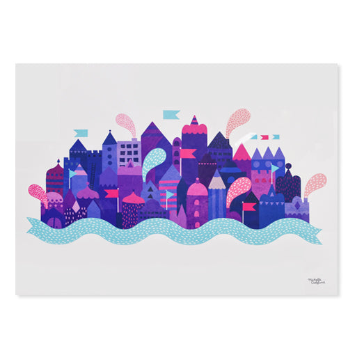 Purple City Print
