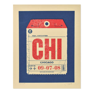 "Chicago Bag Tag 8"" x 10"" Print"