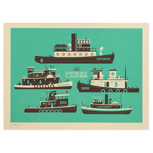 "Great Lakes 12"" x 16"" Screen Print"