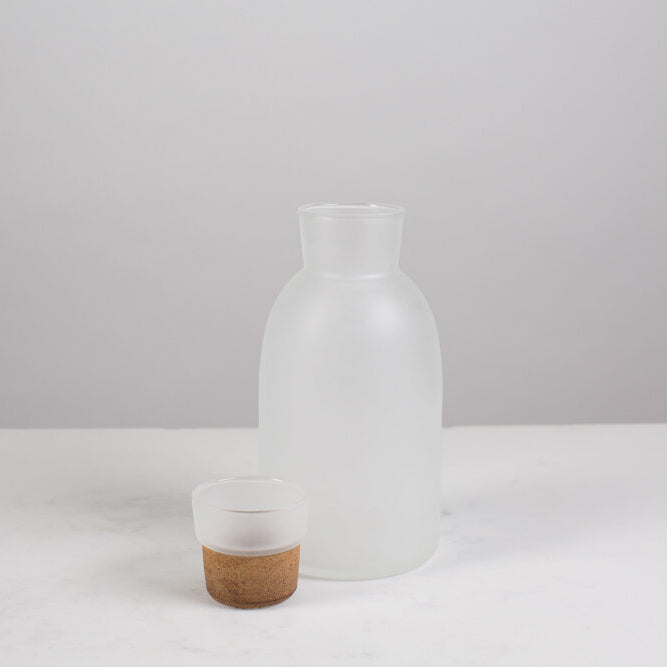 Manual No. 3 Frosted Glass Decanter
