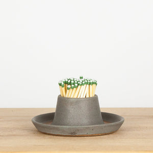 Stoneware Grey Match Holder & Striker