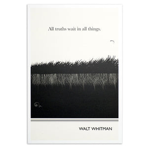 "Whitman Grass 13"" x 19"" Print"