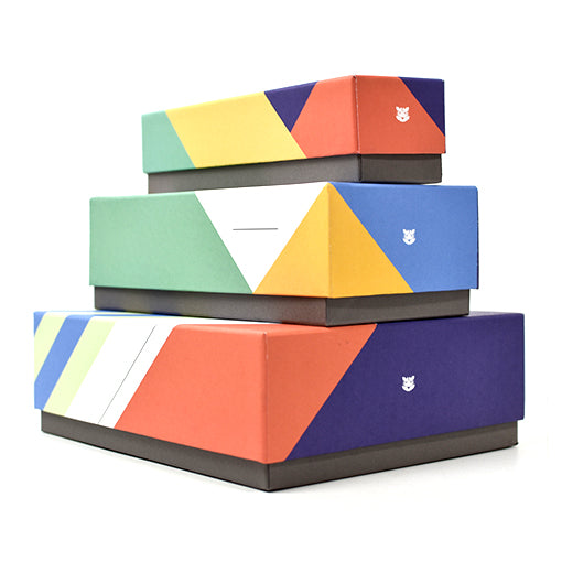 Desktop Geo Stripe Boxes (Set of 3)