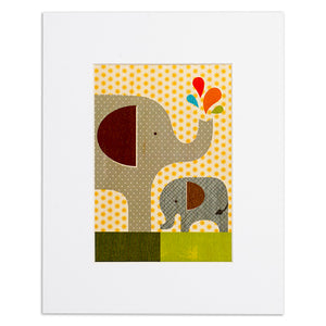 "Elephant Baby 8"" x 10"" Print on Wood"