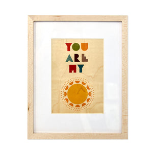 "You Are My Sunshine 8"" x 10"" Framed Print On Wood"