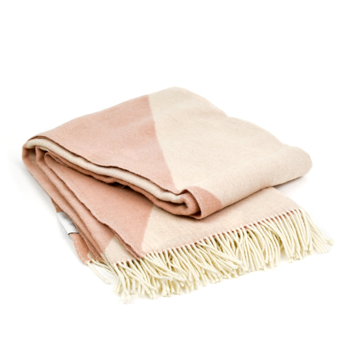 Focus on Twist Wool Throw Blanket