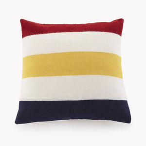 "Revival Stripe White 20"" Wool Throw Pillow Cover"