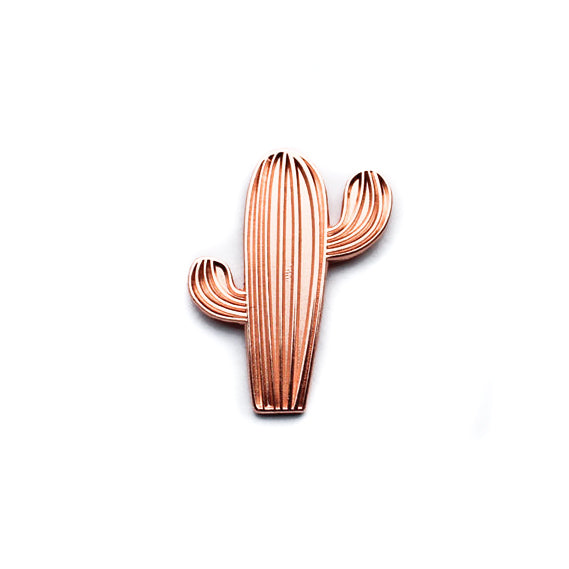 Rose Gold Saguaro Cactus Enamel Pin
