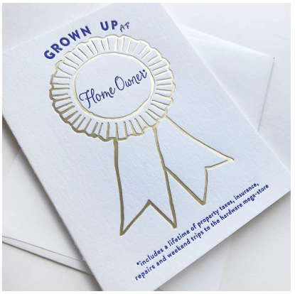 Award Grown Up AF Homeowner Greeting Card