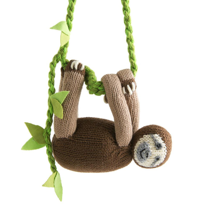 Fair Trade Knit Sloth Mobile