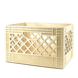 Birch Wood Milk Crate