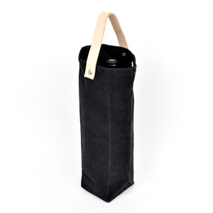 Waxed Canvas Wine Tote Bag