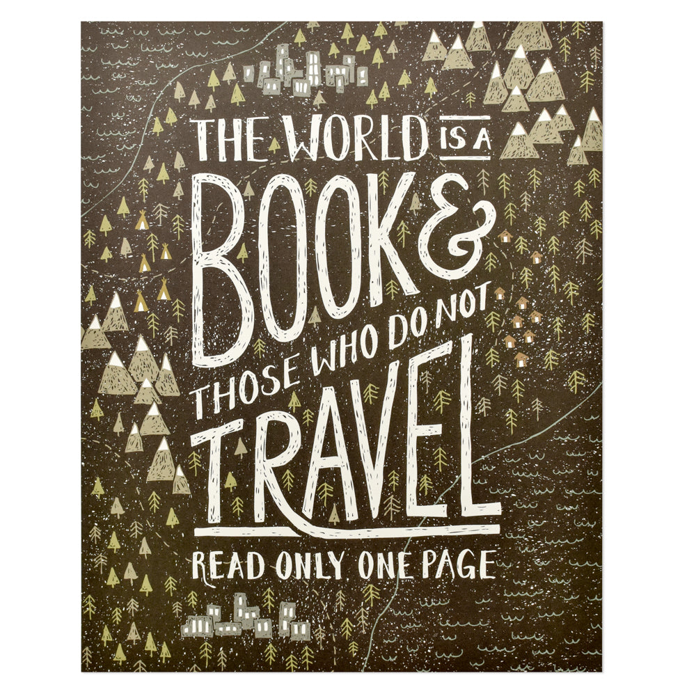 World is a Book Print