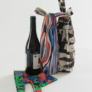Reusable Nylon Wine Tote Bags (Set of 3)